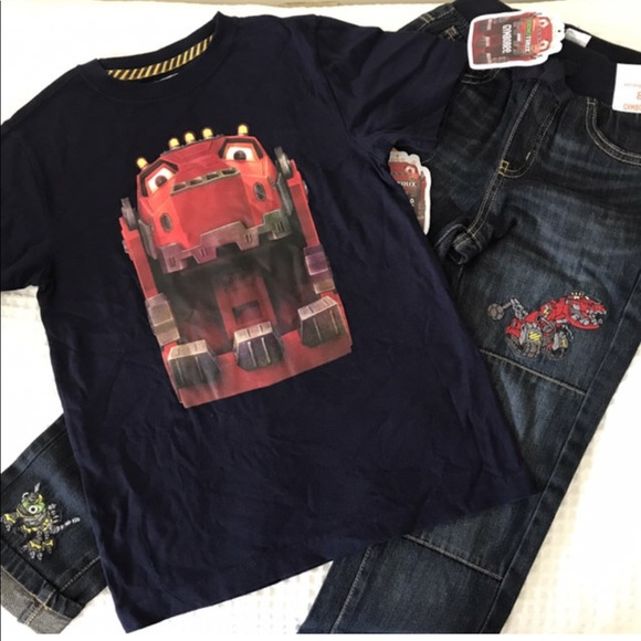 NWT Gymboree OLIVIA the PIG Blue Stripe 2 pc DRESS SET Size 6-12 18-24 mo OR 3T